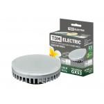 Лампа светодиодная GX53-7 Вт-3000 К TDM