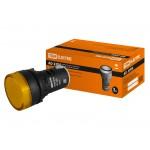 Лампа AD-22DS(LED)матрица d22мм желтый 230В TDM