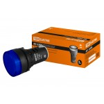 Лампа AD-22DS(LED)матрица d22мм синий 230В TDM