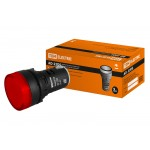 Лампа AD-22DS(LED)матрица d22мм красный 24В AC/DC TDM