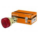 Лампа ENR-22 сигнальная d22мм красный неон/230В цилиндр TDM