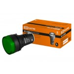 Лампа AD-22DS(LED)матрица d22мм зеленый 12В AC/DC TDM