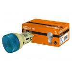 Лампа ENR-22 сигнальная d22мм синий неон/230В цилиндр TDM