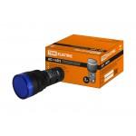 Лампа AD-16DS(LED)матрица d16мм синий 230В АС TDM