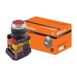 Кнопка ABLFS-22 красный d22мм неон/230В 1з+1р TDM
