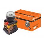 Кнопка ABLFS-22 белый d22мм неон/230В 1з+1р TDM