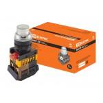 Кнопка ABLFP-22 прозрачн. d22мм неон/230В 1з+1р TDM