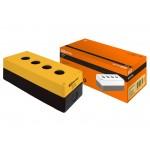 Корпус КП104 для кнопок 4места желтый TDM