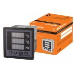 Цифровой многовеличинный прибор (однофазный) ЦП-АВЧ72х3-0,5 (0-50кА, 0-999кВ, 40-70Гц) TDM