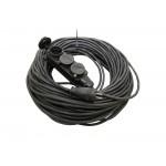 Удлинитель-шнур силовой каучук УШз16-103 IP44 3 гнезда с/з, 30м КГ 3х1,5 TDM