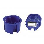 Установочная коробка СП D68х45мм, саморезы, синяя, IP20,  инд. штрихкод, TDM