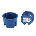 Установочная коробка СП D68х45мм, без саморезов, синяя, IP20,  инд. штрихкод, TDM