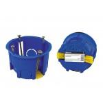 Установочная коробка СП D68х45мм, саморезы, пл. лапки, синяя, IP20, инд. штрихкод, TDM