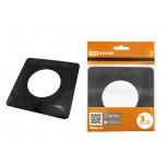 Одноместная защитная рамка для выключателей или розеток для защиты обоев 130х130 мм, антрацит TDM