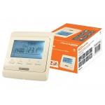 Термостат для теплых полов электронный ТТПЭ-1 16А 250В с датчиком 3м сл. костьTDM